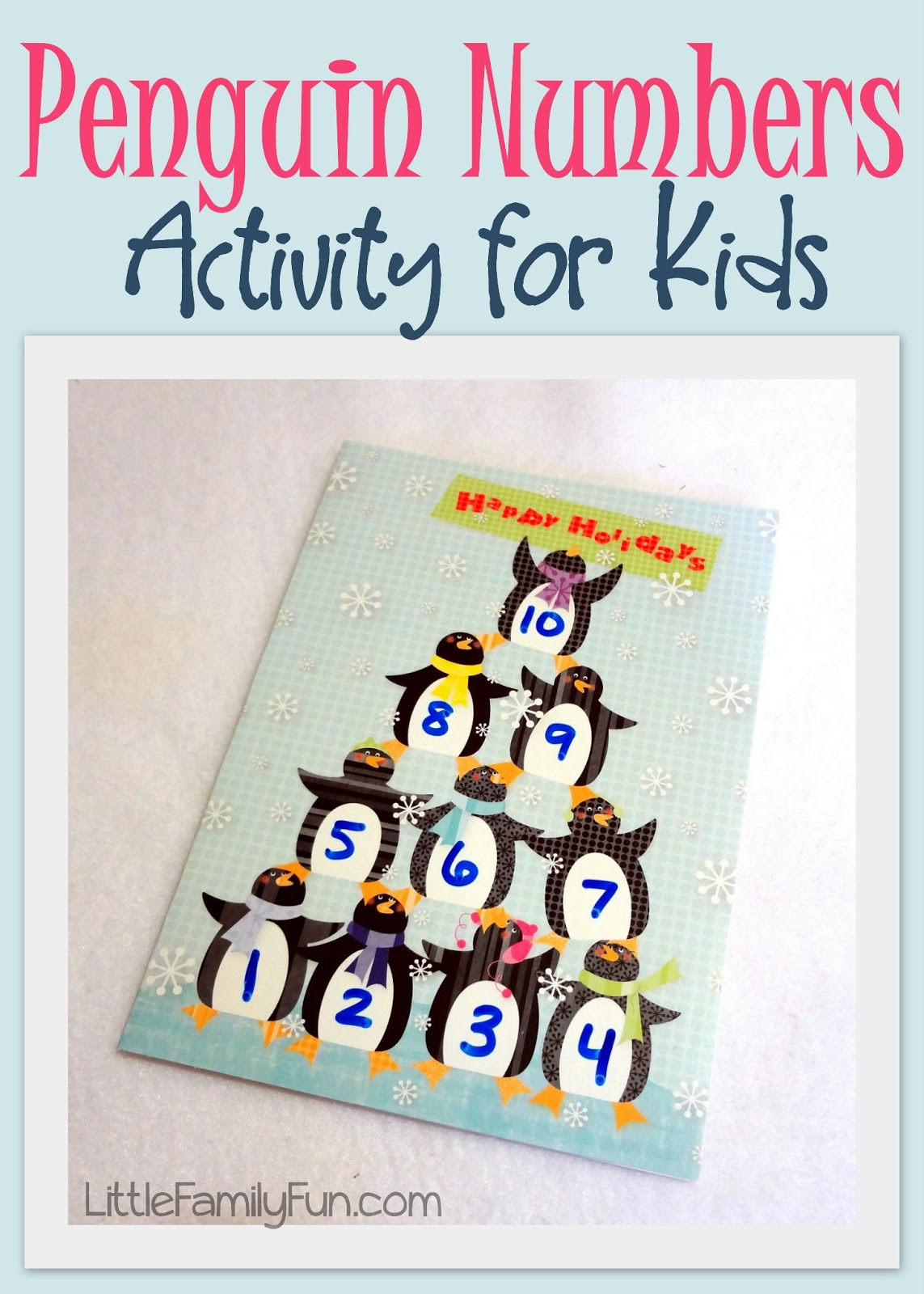 Little Family Fun Penguin Numbers Activity