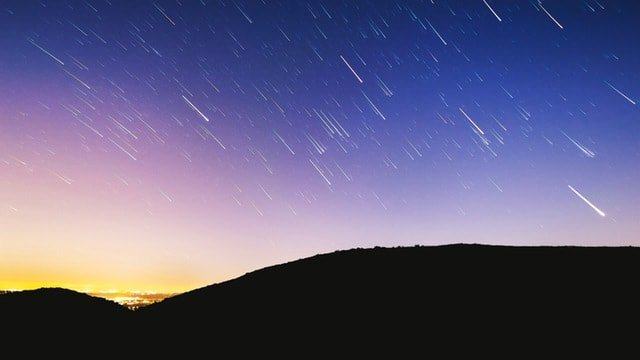 Shooting Stars Meteor Shower From The Perseids