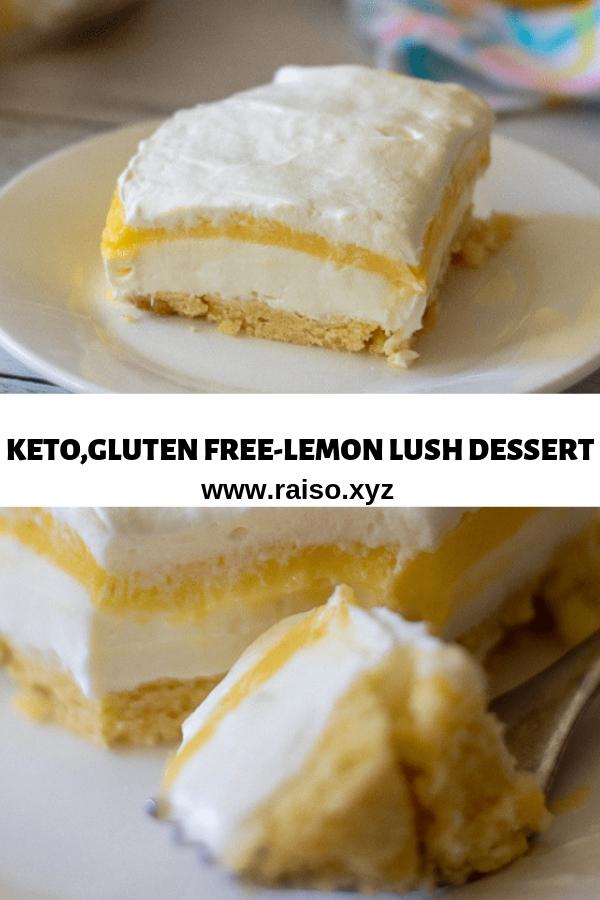 KETO,GLUTEN FREE LEMON LUSH DESSERT