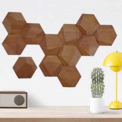 Hexagon Wood Wall Tiles