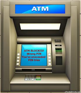 Idan nasa ATM card a jikin ATM machine yana nunamin ATM blocked