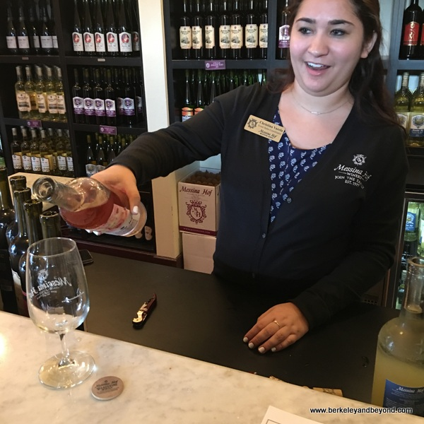 wine tasting at Messina Hof Winery Grapevine in Grapevine, Texas
