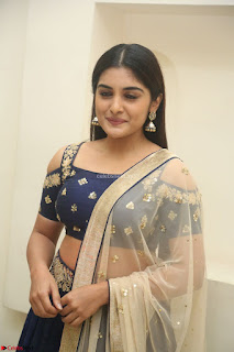 Niveda Thomas in Lovely Blue Cold Shoulder Ghagra Choli Transparent Chunni ~ Exclusive Celebrities Galleries 017