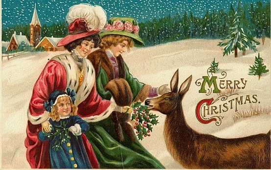 vintage christmas cards  emma louise layla