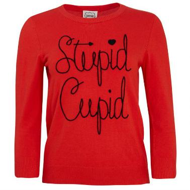 Joanie Clothing Stupid Cupid Slogan Jumper   Cate Renée