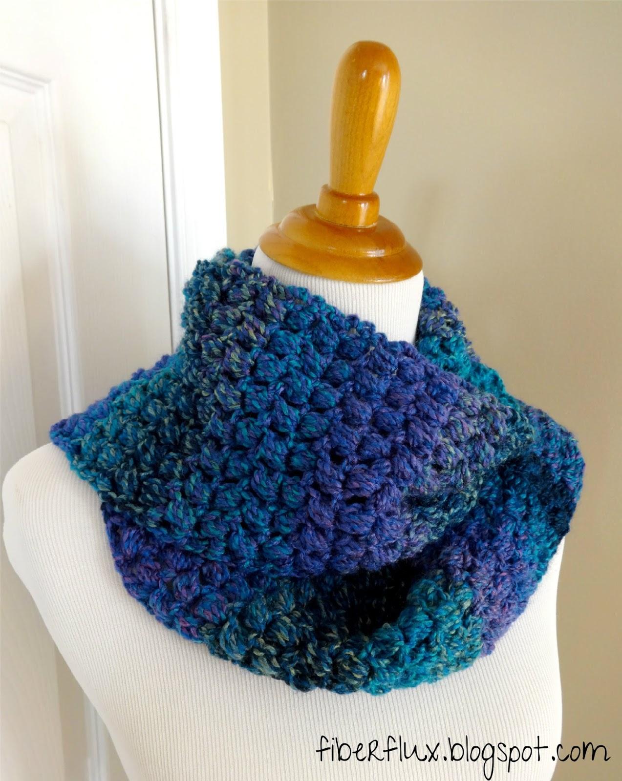 Fiber Flux: Free Crochet Pattern...Tweedy Puff Stitch Scarf!