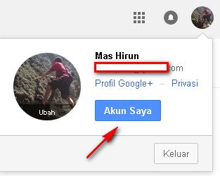 cara merubah password gmail
