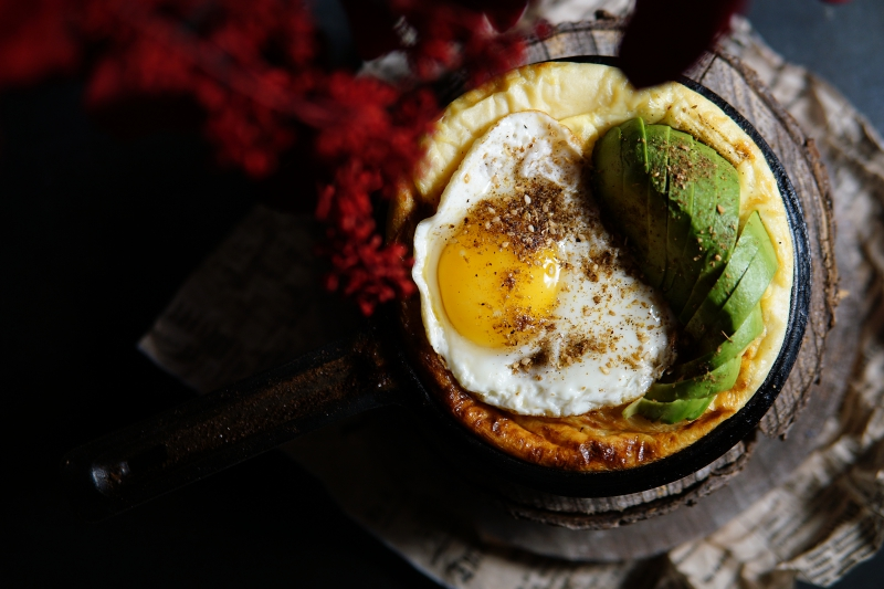pannukakkuresepti, avokado, kananmuna