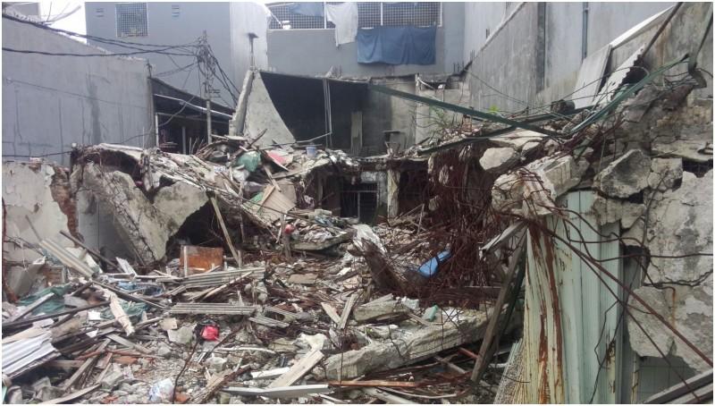 Kondisi rumah Andre di  Jl Kedaung Utara, Tambora yang digusur
