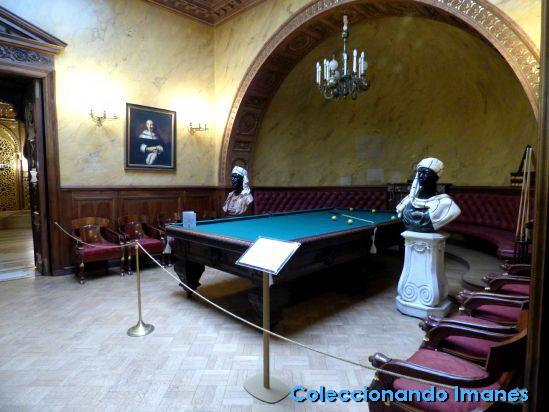 Mesa de billar, palacio Yusupov, San Petersburgo