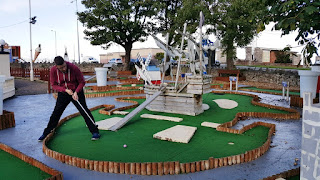 Crazy Golf at the Rhos Fynach in Rhos on Sea