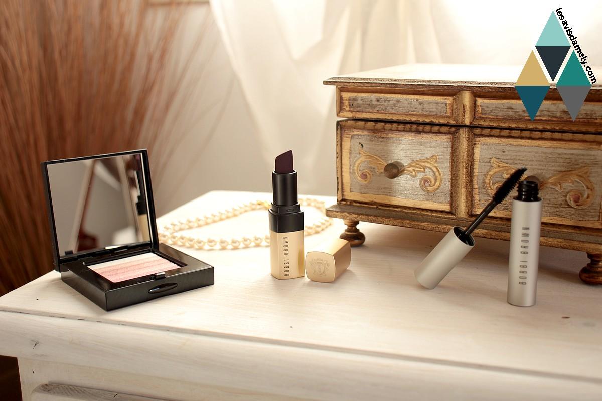 revue et test makeup luxe lèvres yeux joues Bobbi Brown