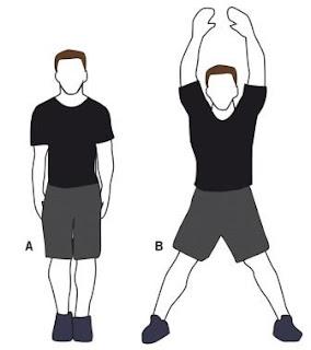 Latihan Circuit Training Menggunakan HIIT Bodyweight Workout - jumping jacks