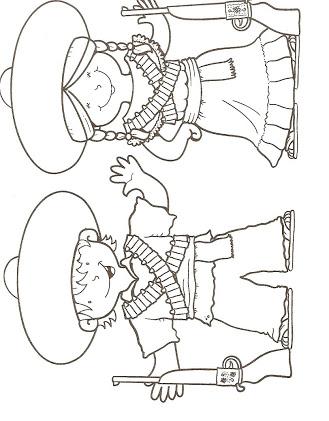 La Revolución Mexicana - Dibujos para Colorear - Ciclo Escolar