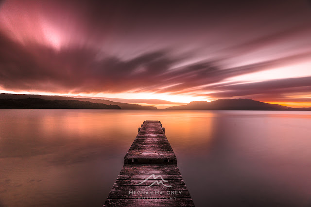 lake tarawera dawn long exposure