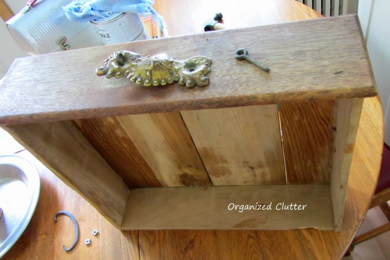 Re-purposing an Old Drawer into a Display Shelf www.organizedclutterqueen.blogspot.com
