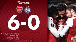 Arsenal vs BATE Borisov 6-0 Highlights Liga Europa