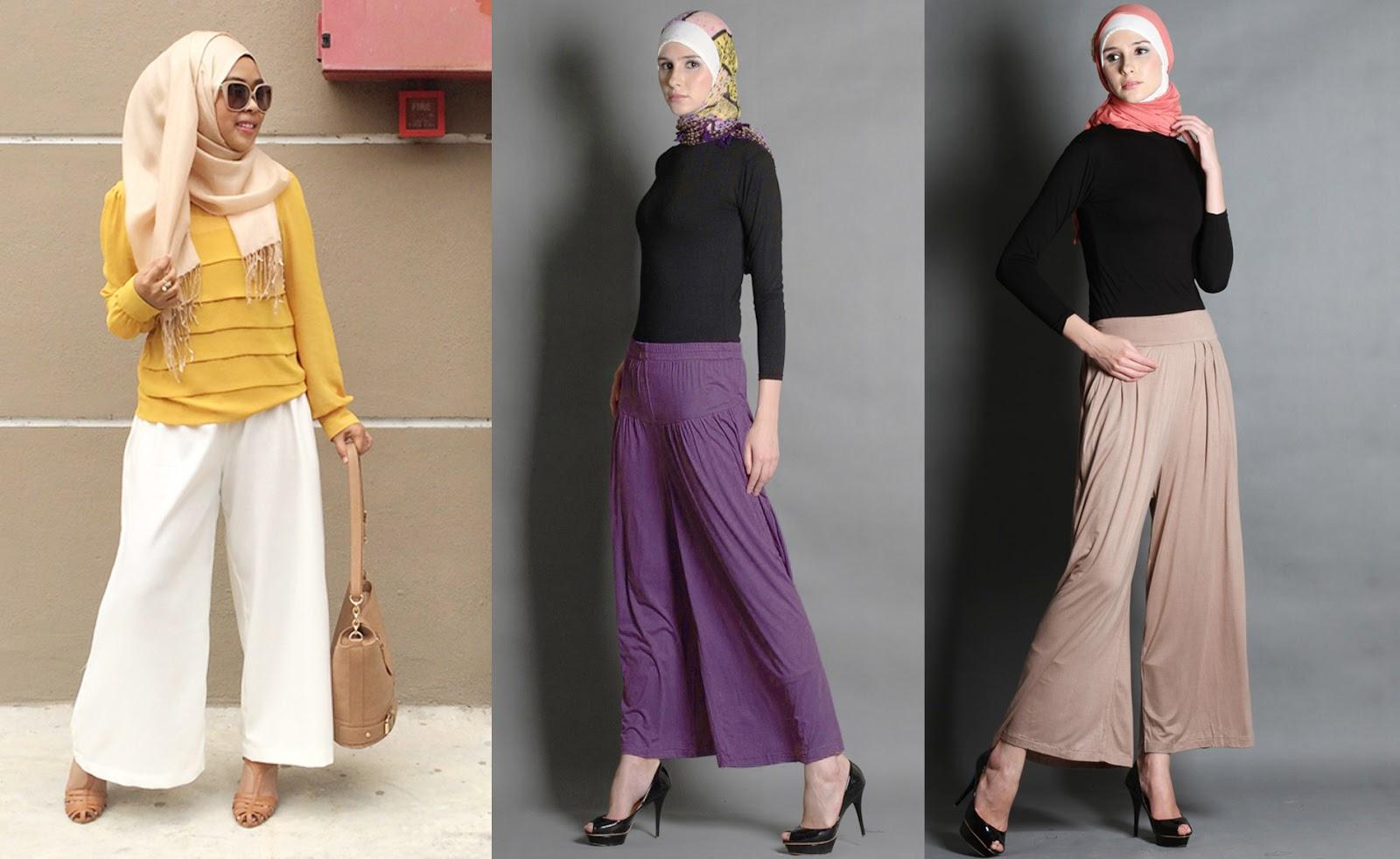 Model Celana Kulot Trend 2019 Muslim Remaja Terbaru Casual Cewek Polos Terbaik
