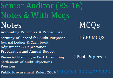 Senior Auditor 1500 MCQS With Notes - Paperpkinfo