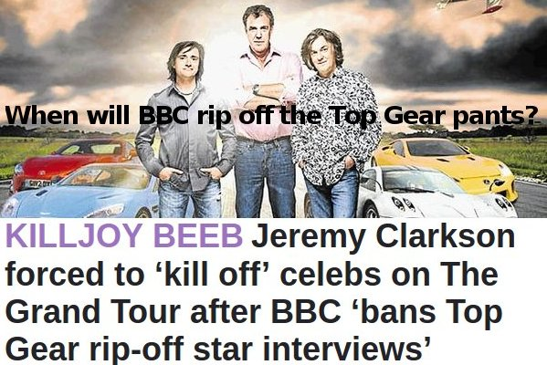 Will BBC also claim the right to the Top Gear pants?!