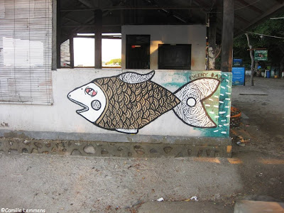 Gili Air, Indonesia, graffiti at the harbor