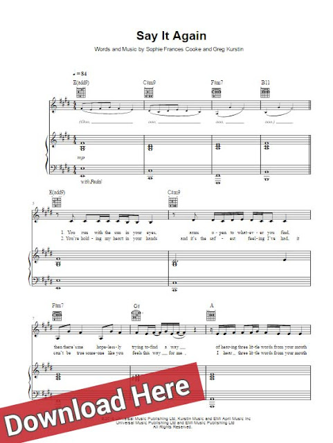 frances, say it again, sheet music, piano notes, chords, score, keyboard, guitar, tutorial, lesson, guide, how to play, learn, klavier noten