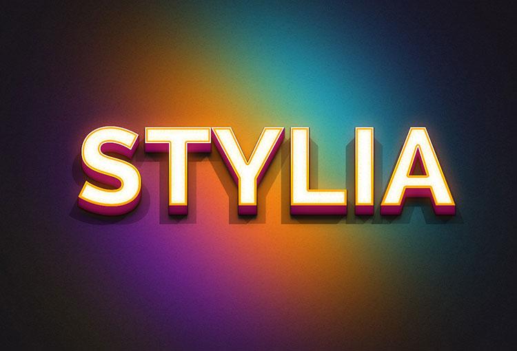 Stylia PSD Text Effect