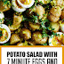 Potato Salad with 7 Minute Eggs and Mustard Vinaigrette #salad #healthyrecipes