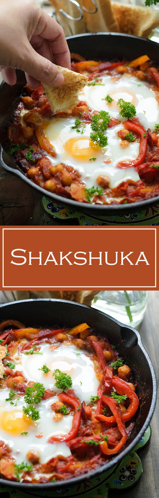 Easy Shakshuka Recipe. Delicious shakshuka serve for breakfast with either toast, pita bread or Lebanese bread.