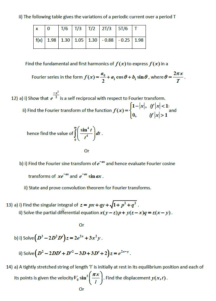 Ma2211 Transforms And Partial Differential Equations Tpde