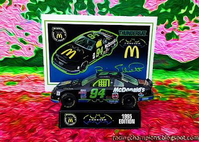 Bill Elliott #94 Batman Forever Thunderbird 1995 Racing Champions 1/64 NASCAR diecast blog Reece's