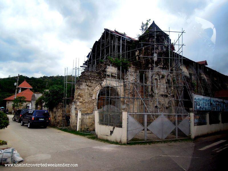 Loboc Church in Bohol being restored