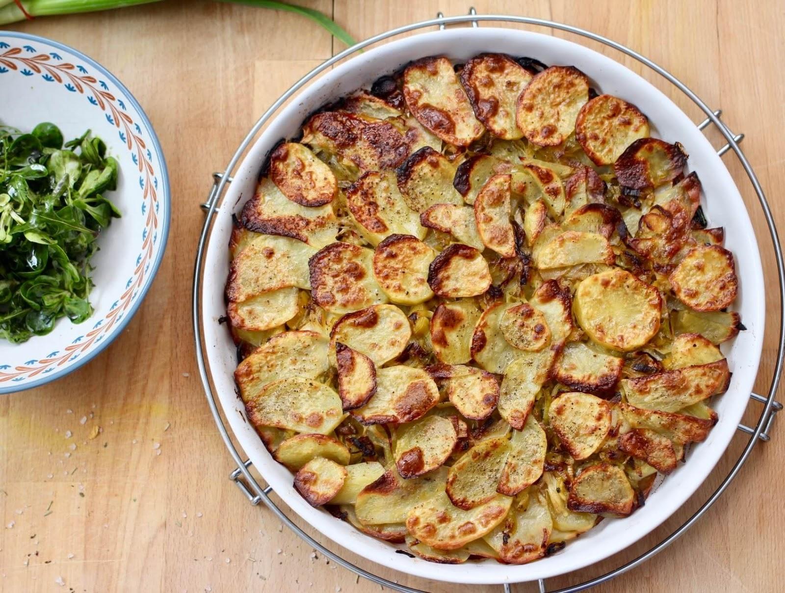 Rezept für eine Kartoffel Lauch Galette