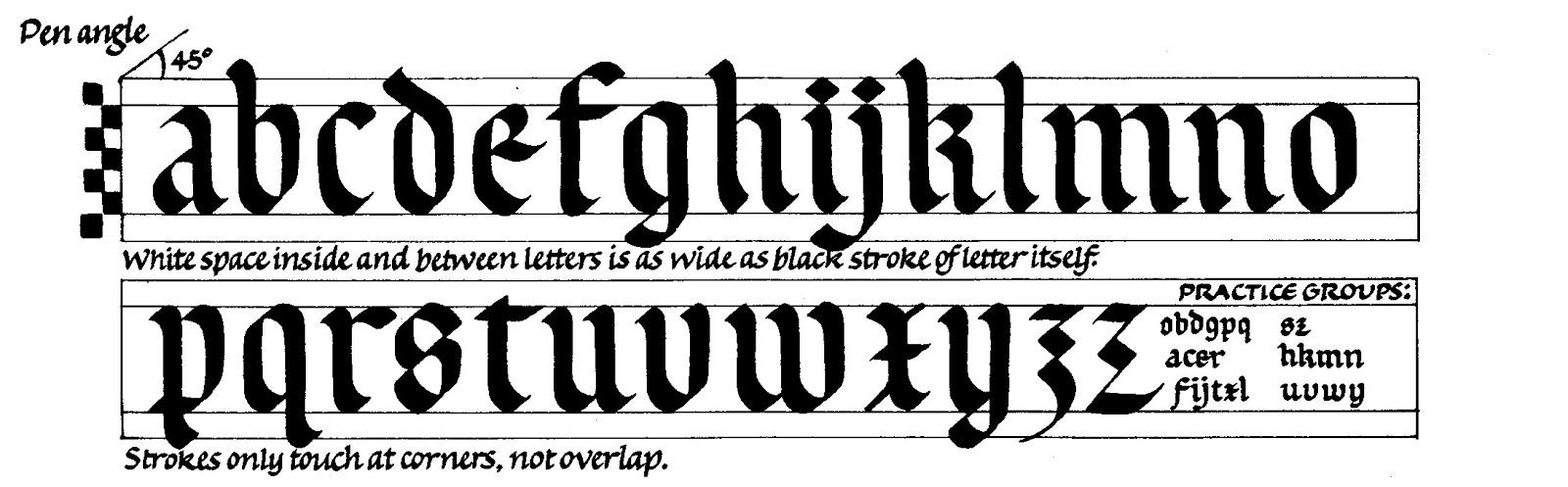 Margaret Shepherd Calligraphy Blog 56 Rounded Gothic