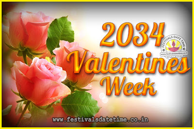 2034 Valentine Week List : 2034 Valentine Week Schedule, Hug Day, Kiss Day, Valentine's Day 2034