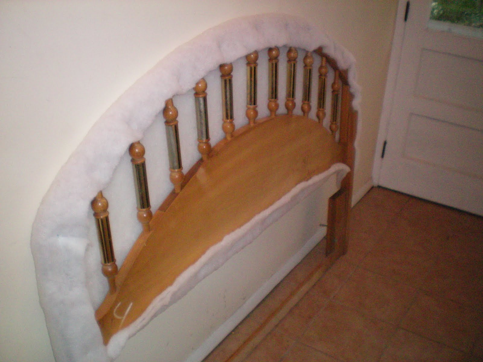 One Ugly House: Upholstering a Headboard