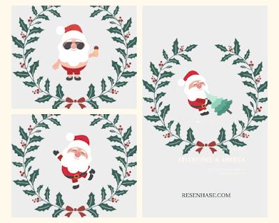 Capas para destaque do Instagram - Papai Noel