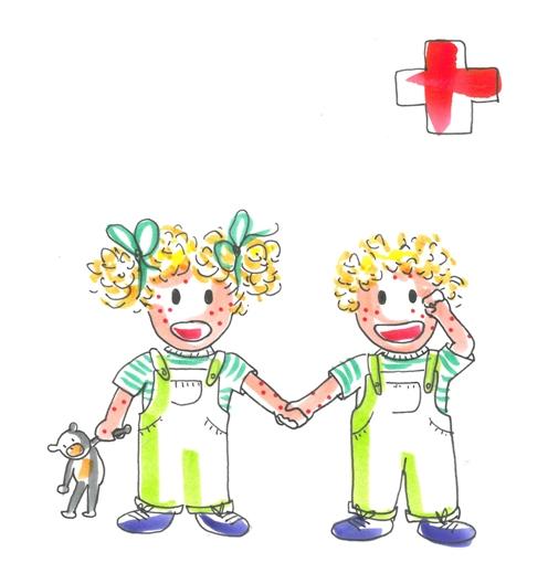 Los hermanos Tina y Leo acuden al médico porque tienen varicela