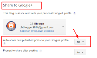 Share Posting Blog Otomatis ke Google Plus