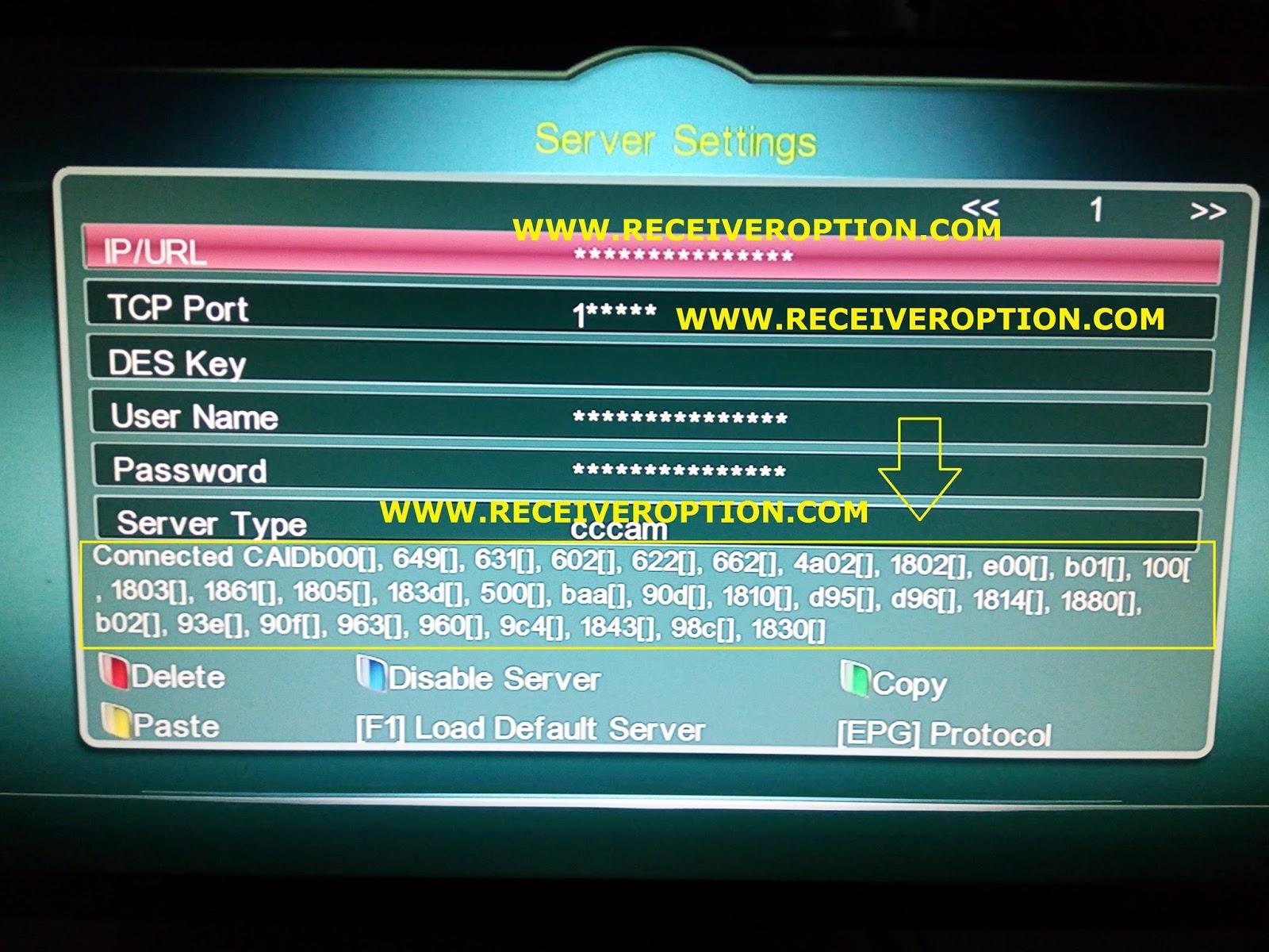 SUPER MAX SM 3000 HD 3G RECEIVER CCCAM OPTION - HOW TO ENTER BISS