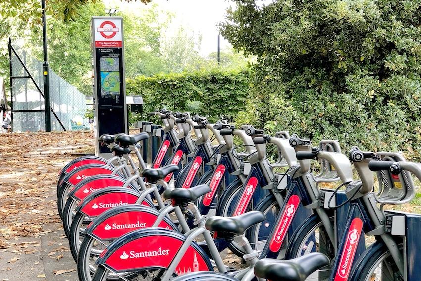 Santander Bikes im Regent Park