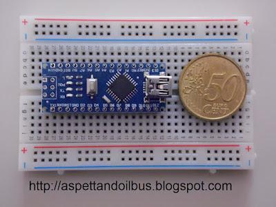 Fig. 6 - Il modulo Arduino Nano V3.0 sulla breadboard - foto di Paolo Luongo
