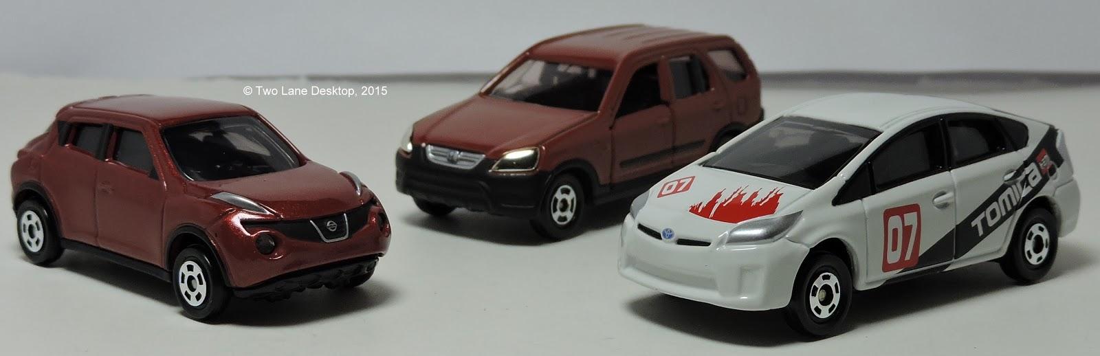 Tomica Time!: 2009 Toyota Prius, Nissan Juke, and 2004 Honda
