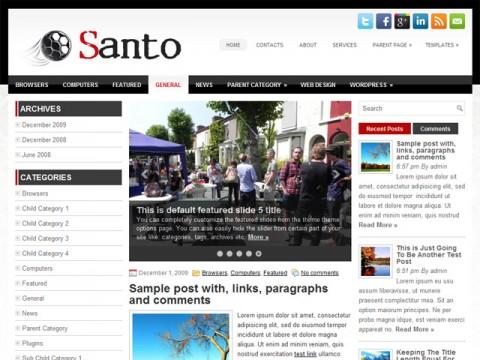 Free Santo - Impressive General Blog WordPress Themes