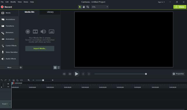تحميل برنامج عمل شروحات الفيديو والمونتاج Camtasia Studio 9