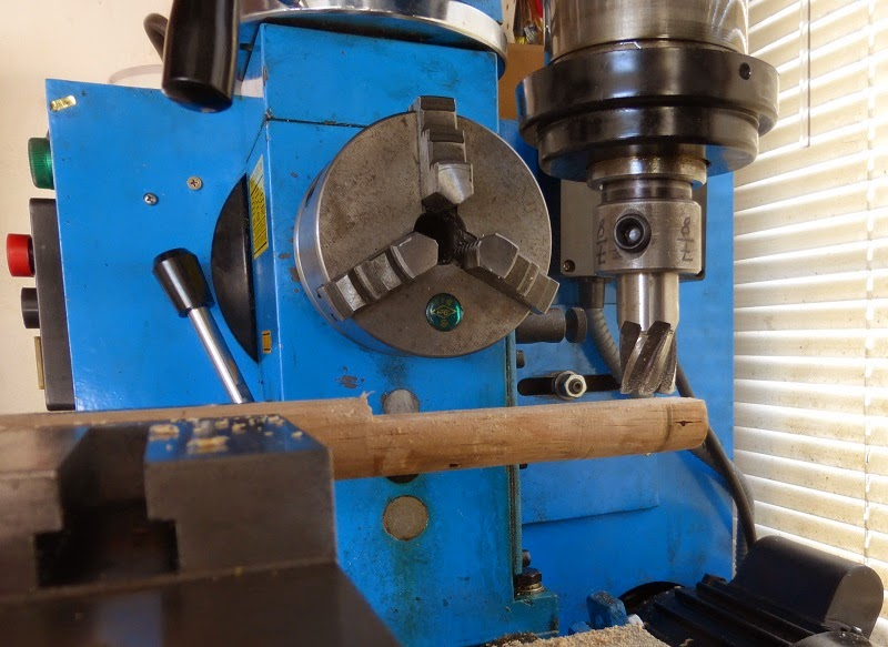 milling flat on broom handle
