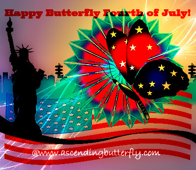 Happy Butterfly Fourth of July, Independence Day, Butterflies
