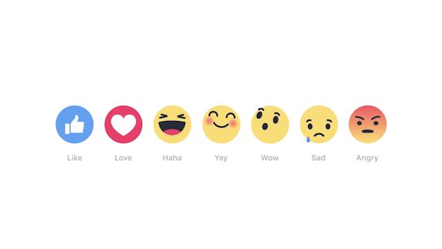 Reações do Facebook estão mudando a maneira como os usuários interagem