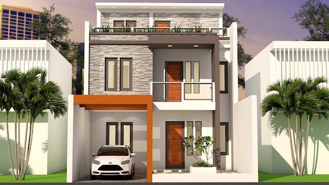 Sam Architect Home Design 3D Plot Size 7x17 With 5 Bedrooms Sketchup  Modeling This Villa Is Modeling By SAM ARCHITECT With 3 Stories Level.