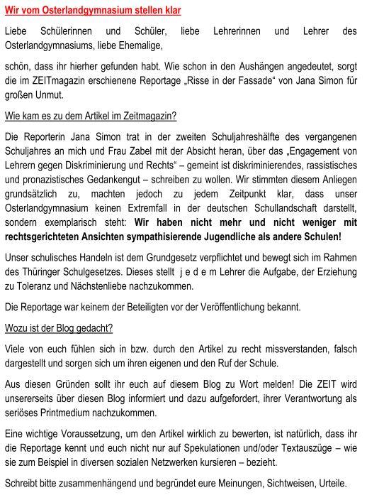 Osterlandgymnasium Gera Schule Im Grunen Wir Vom Osterland